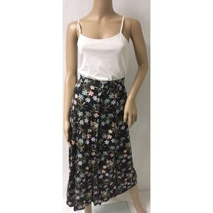 Blue & Pink Button Down Skirt Size Medium